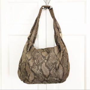 Sam Edelman Snakeskin Hobo Handbag Bag